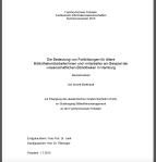 Titelblatt Bachelorarbeit Annett Burkhardt